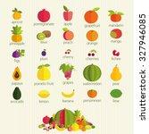 basics of healthy nutrition.... | Shutterstock . vector #327946085