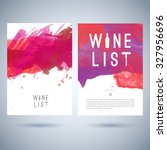 vector creative wine list cover ... | Shutterstock .eps vector #327956696