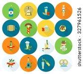 oktoberfest beer festival. long ... | Shutterstock . vector #327961526
