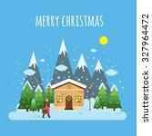 flat design. vector... | Shutterstock .eps vector #327964472