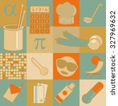 retro set of different flat... | Shutterstock .eps vector #327969632