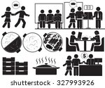 shabu buffet restaurant icon set | Shutterstock .eps vector #327993926
