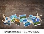 snapshots of tropical islands... | Shutterstock . vector #327997322