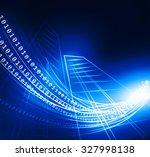 binary code stream  digital... | Shutterstock . vector #327998138