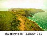 irish landscape. coastline... | Shutterstock . vector #328004762