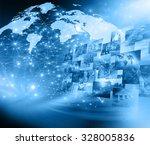 best internet concept of global ... | Shutterstock . vector #328005836