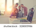 young group of people...   Shutterstock . vector #328005986