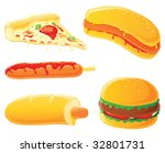 fast food set. hot dog  curry