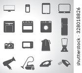 electronics icons illustration... | Shutterstock .eps vector #328018826