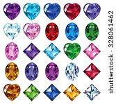 set of gemstone icons. bright... | Shutterstock .eps vector #328061462