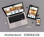 3d render of booking website...   Shutterstock . vector #328066136