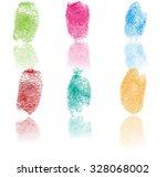 set of fingerprints  vector... | Shutterstock .eps vector #328068002