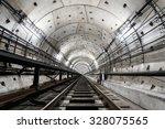 Straight Circular Subway Tunnel ...