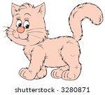 pink cat | Shutterstock .eps vector #3280871