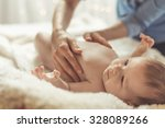 photo of caring mother... | Shutterstock . vector #328089266