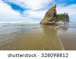 Scenic View In Ruby Beach On...