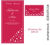 vector wedding invitation.... | Shutterstock .eps vector #328105118