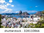 Panoramic view of Rio De Janeiro and Sugar Loaf, Brazil .