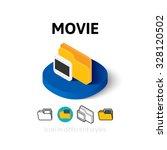 movie icon  vector symbol in...