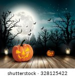 halloween spooky background.... | Shutterstock .eps vector #328125422