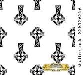 vector celtic cross seamless | Shutterstock .eps vector #328126256