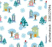 christmas and new year pattern. ... | Shutterstock .eps vector #328127096
