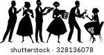 vector silhouette of people... | Shutterstock .eps vector #328136078
