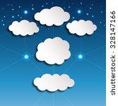paper clouds vector... | Shutterstock .eps vector #328147166