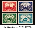 set of templates stamps with... | Shutterstock .eps vector #328151708