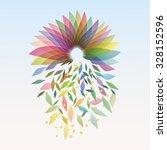 autumn flowering vector... | Shutterstock .eps vector #328152596