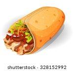mexican burrito icon.... | Shutterstock .eps vector #328152992