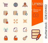 lineo colors   website and... | Shutterstock .eps vector #328154402