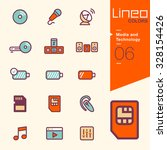 lineo colors   media and... | Shutterstock .eps vector #328154426