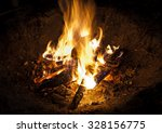 night bonfire  | Shutterstock . vector #328156775