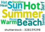 summer word cloud on a white...   Shutterstock .eps vector #328159298