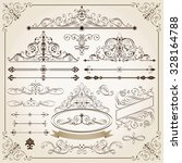 set of calligraphic frames and... | Shutterstock .eps vector #328164788