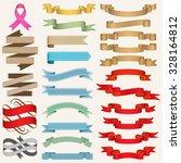 set of ribbons vector... | Shutterstock .eps vector #328164812