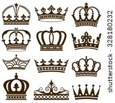 set of crowns vector... | Shutterstock .eps vector #328180232