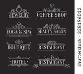 elegant design outline logo... | Shutterstock .eps vector #328196012