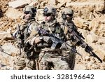 united states army rangers in... | Shutterstock . vector #328196642