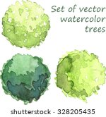 set of watercolor trees  top... | Shutterstock .eps vector #328205435