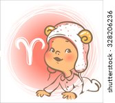 children's horoscope icon. kids ... | Shutterstock .eps vector #328206236