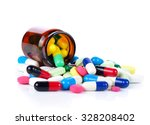 Tablets Pills Heap Color Mix...