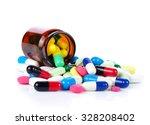 tablets pills heap color mix...   Shutterstock . vector #328208402