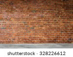 cement counter bar with brick... | Shutterstock . vector #328226612