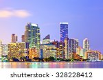 miami florida at sunset ...   Shutterstock . vector #328228412