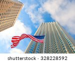 downtown buildings and waving... | Shutterstock . vector #328228592