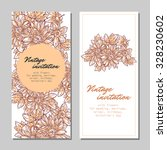 set of floral banners | Shutterstock .eps vector #328230602