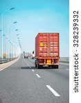 container trucks on the bridge