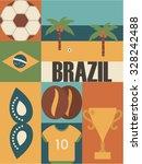 Brazil Background Icon Set